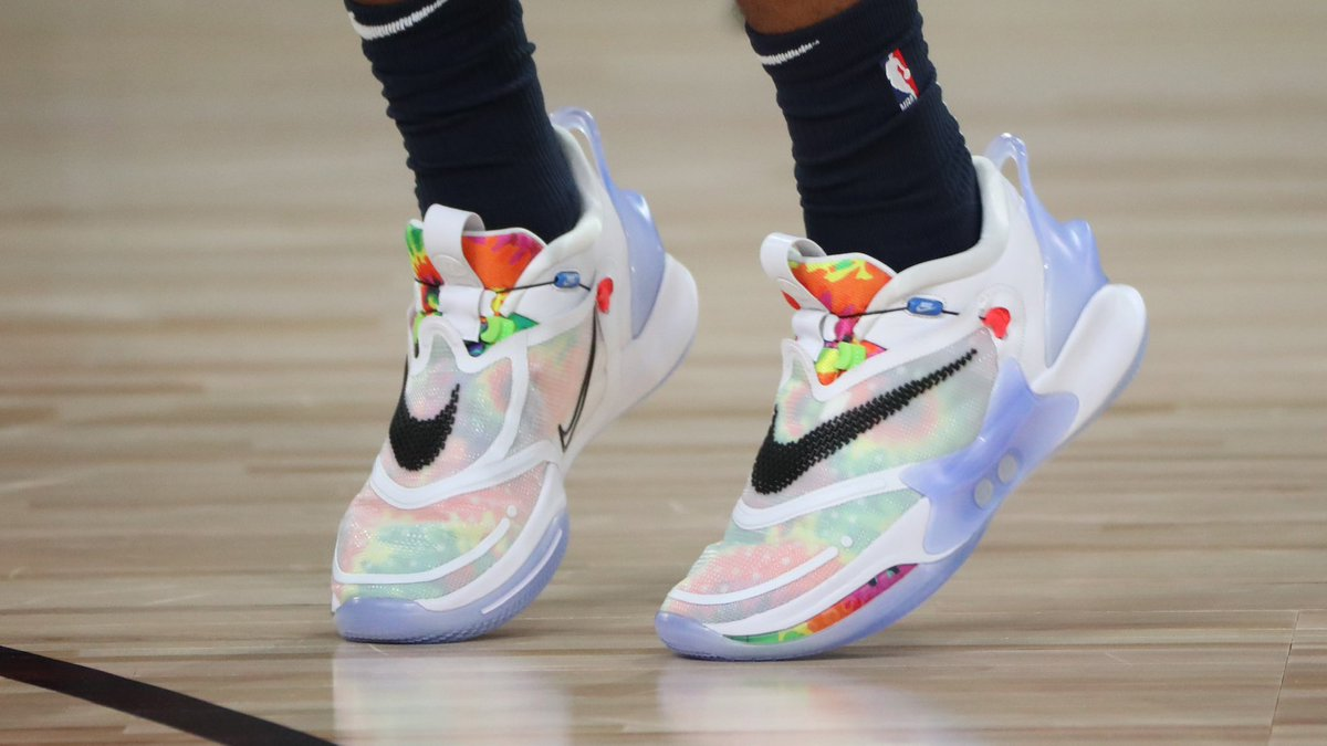 Nike Basketball On Twitter The Adapt Bb 2 0 Tie Dye Makes Its Way To The Nba Court Courtesy Of Jamorant Available Now In Select Regions Arriving In North America August 13 Https T Co Fcexzntdpu