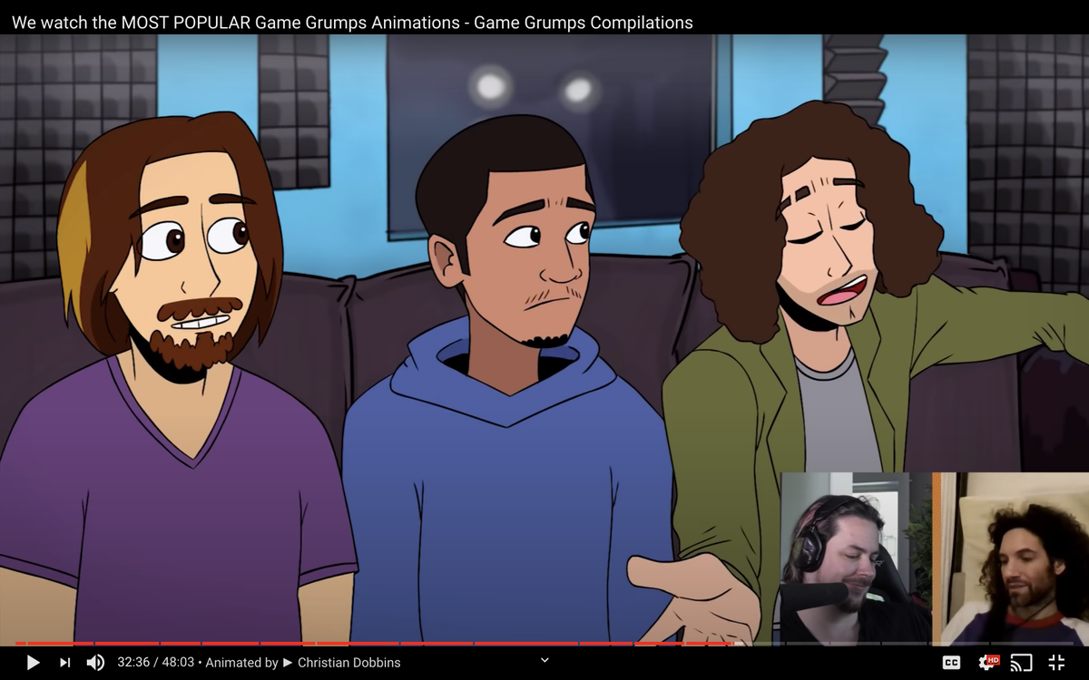Ayyyy, the Grumps watched my first Game Grumps Animated in their video today!! ✨ I cant believe that video is almost four years old. youtube.com/watch?v=8Adocw…