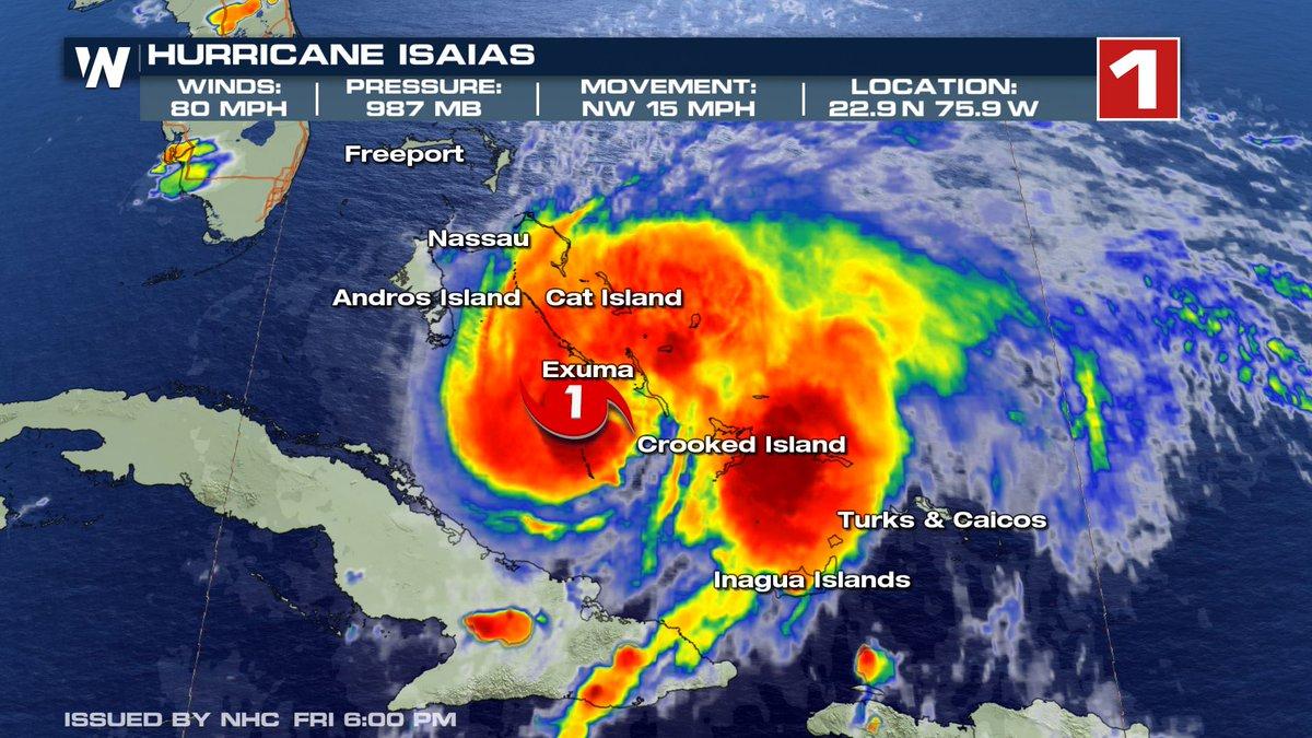 @WeatherNation's photo on Hurricane Isaias