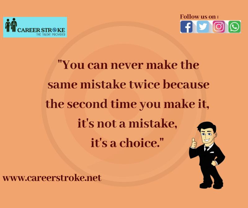 You learn your lesson only when you understand where and why you went wrong. Repeating the same mistake proves the lack of willingness you had, to correct it in the first place.  #mistakes #willingness #think #understand #beaboss #motivationmafia http://www.careerstroke.netpic.twitter.com/nhgvwS2Jnn