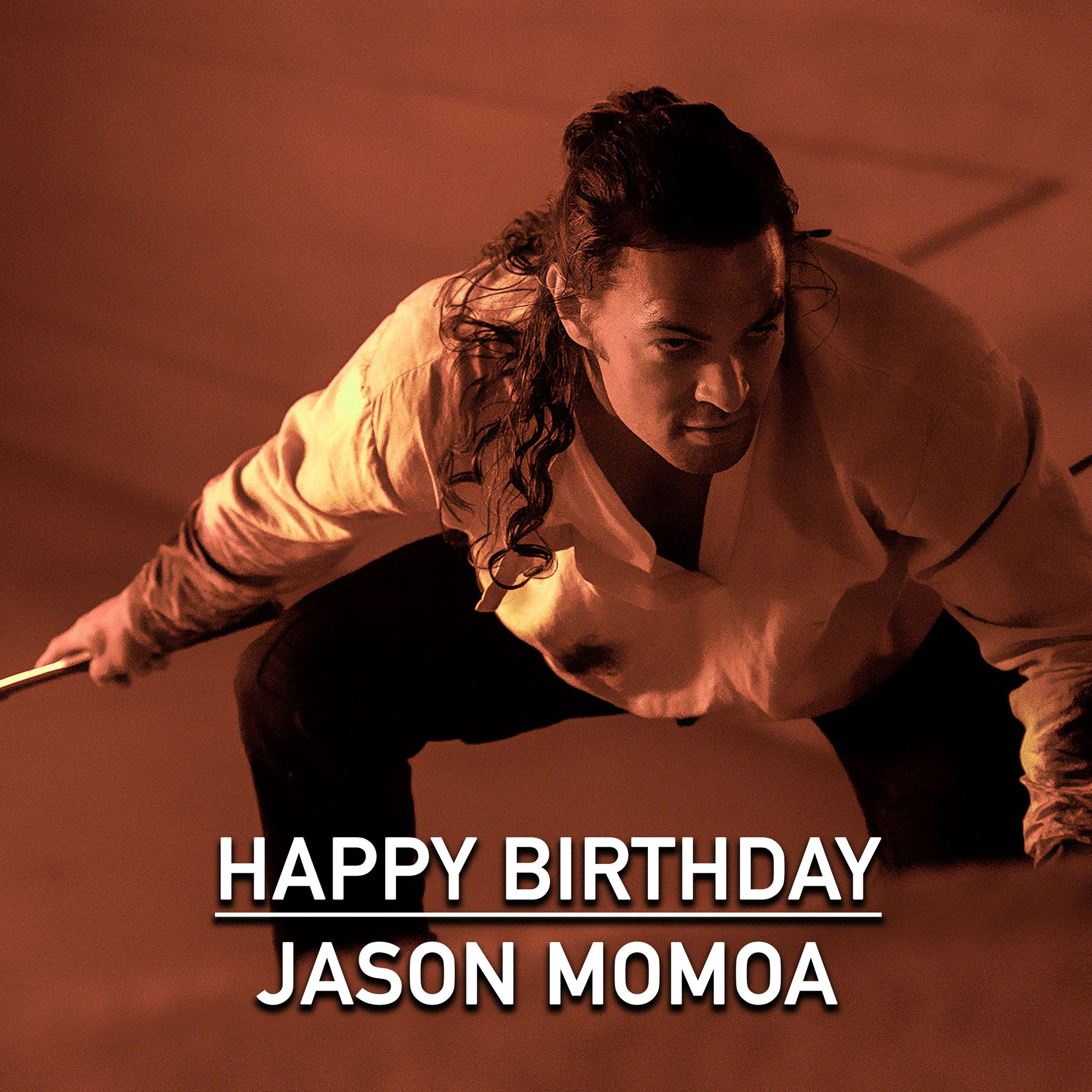 Happy Birthday to Jason Momoa, who plays a master swordsman in Denis Villeneuve s upcoming film DUNE .
