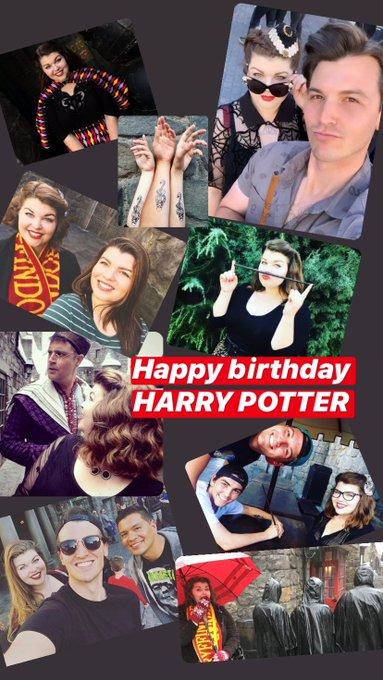 Happy birthday to HARRY POTTER.
