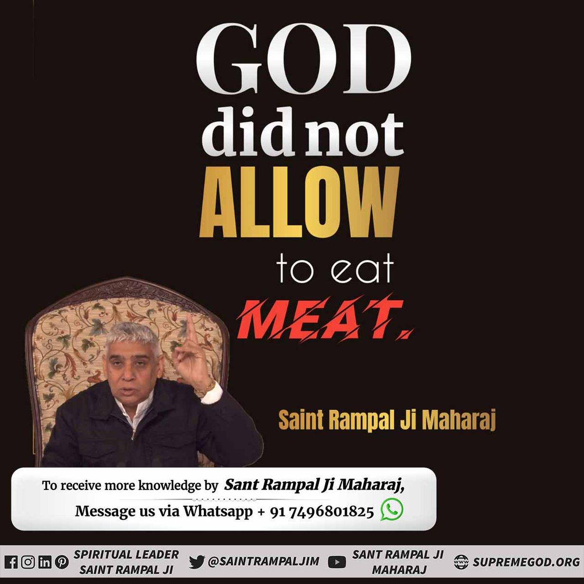 @#EidAlAdha #Allah_DidntAllow_Qurbani  One who eats meat attains hell, regardless of any living being.   Kabir ji explains-  Maas maas sab ek hai, murgi hirni gaye. Aankh dekh kar nar khat hai, te nar narak hi jaye.  https://t.co/keBOAlShTD https://t.co/jAlkdIUt8y