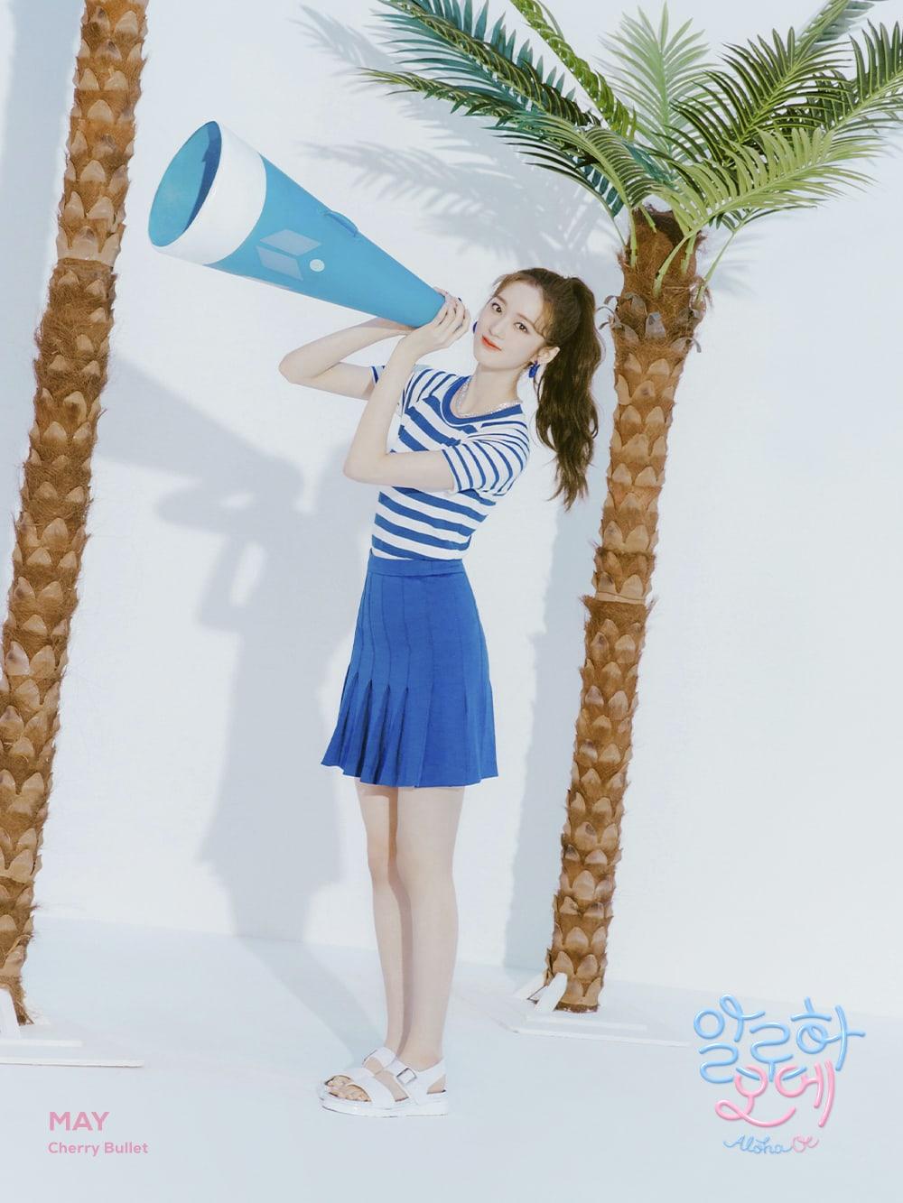 """みゃあ@🍒🔫Aloha Oe on Twitter: """"ビジュアルで夏と可愛さが出ている個別写真から4枚 可愛さ爆発してますわ😍 楽しみだなあ # CherryBullet #May #Yuju #Chaerin #Bora… """""""