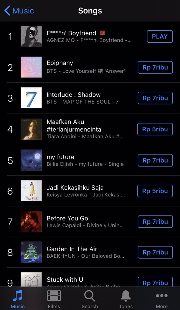 ISSA LIT! @agnezmo's F****n' Boyfriend just hit number #1 on Indonesia iTunes All Genre Charts 🔥 #AGNEZMOFuckinBoyfriend   Stream it here:   Watch the music video here: