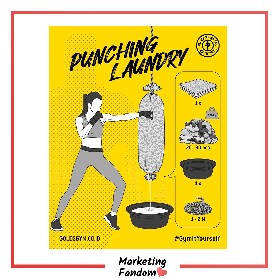"""An Indonesian based Introduced: ''Gym It Yourself"""" - A series of step-by-step tutorials on how to train just like you're at the gym using everyday household items, from the comfort of home to their followers. . .  #MarketingFandom #CreativeAds #creativeads2020 #advertisinglife pic.twitter.com/HkBtgSaW3s"""