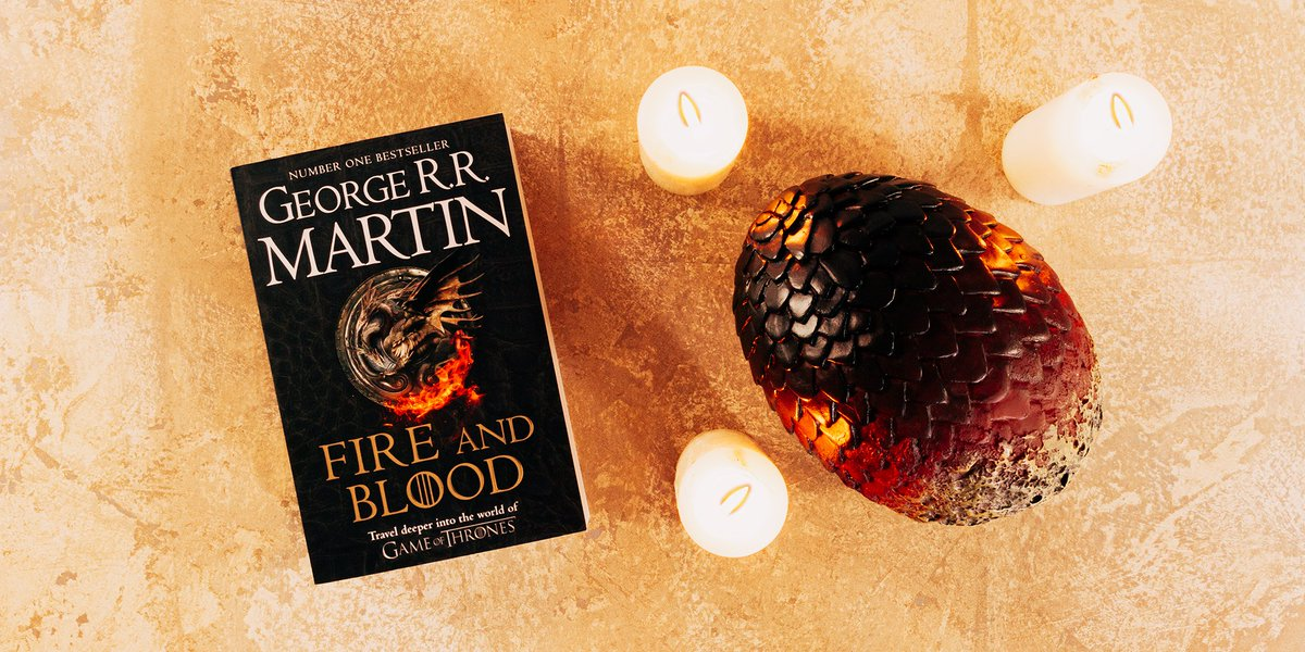 Weve got our talons on an early copy of the #FireAndBlood paperback!* 🔥 *Dragon egg not included hyperurl.co/FireAndBloodPB