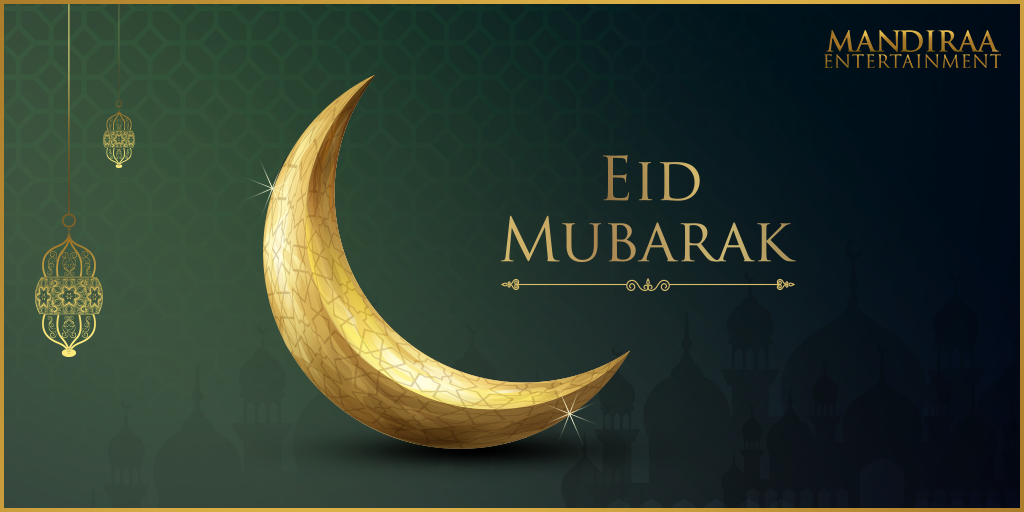From our family to yours, wishing all a blessed Eid! #MandiraaEntertainment #EidMubarak