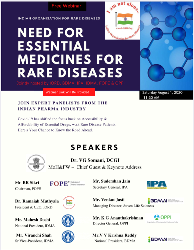 @rarediseases_in is having this meeting right now on Need for Essential Medicines for Rare Diseases without any of the rare disease groups on the panel, but with a manel of pharma associations representatives. @ORDIndia @curesmaindia @LSDSS @CDSCO_INDIA_INF @NITIAayog @wwgnem