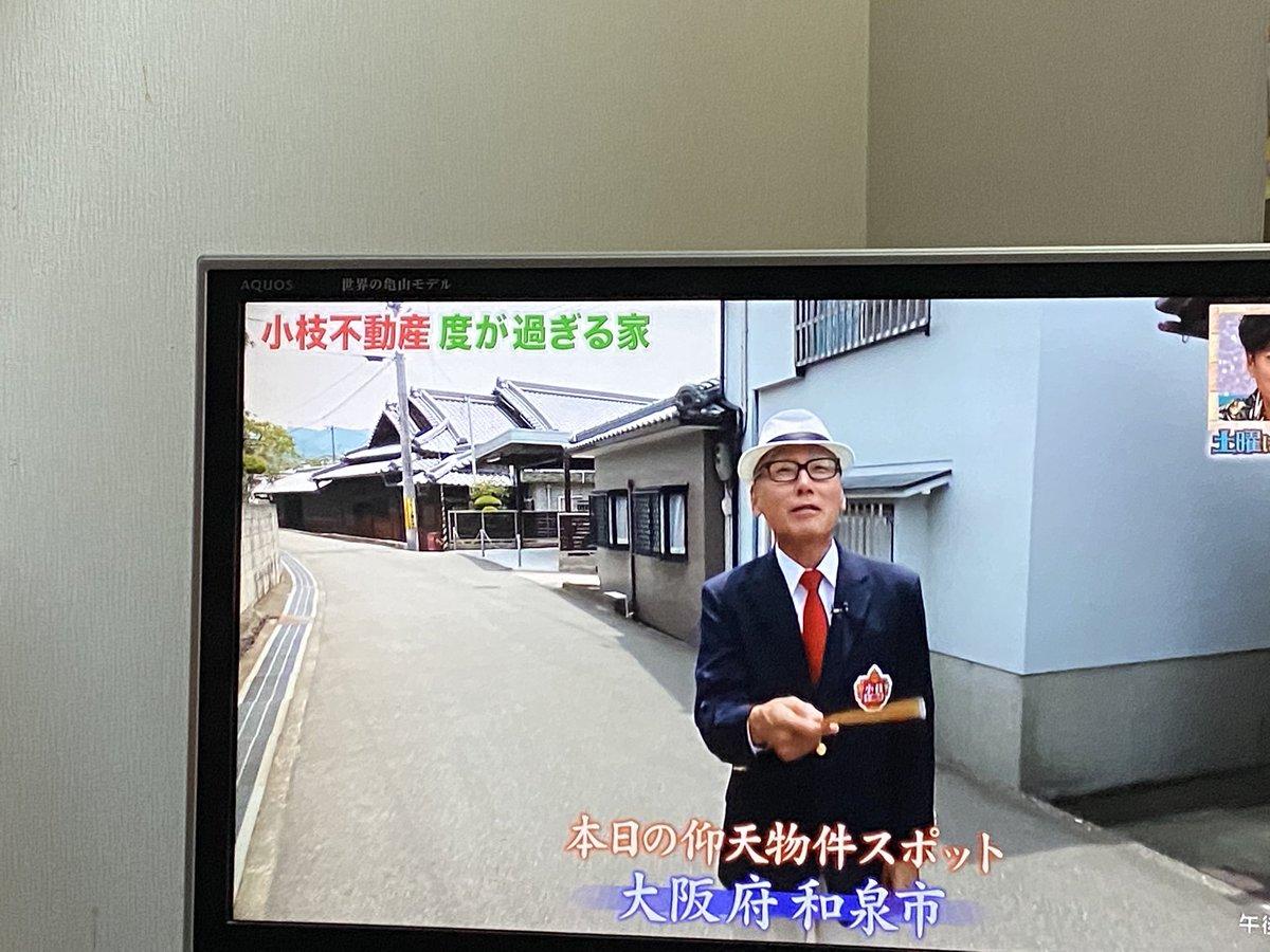 今日の小枝不動産、和泉市やで。と息子が言うので見てみたら とんでもなく大きなお家だった。かくれんぼし放題だね。