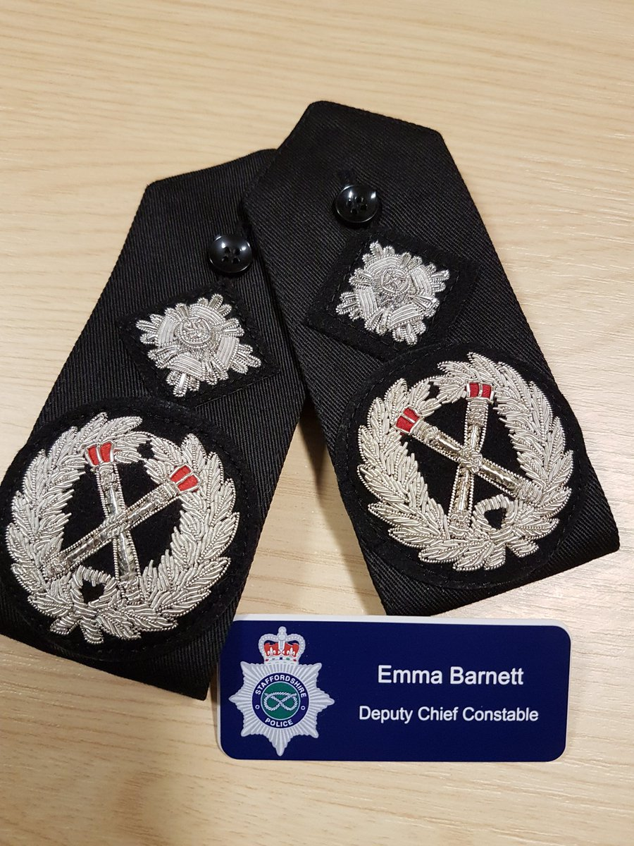 Todays the day - exactly 4 years since joining @StaffsPolice it is a real privilege to put these new epaulettes on as Deputy Chief Constable Im immensely proud and looking forward to continuing to serve the communities of Staffordshire with my amazing, dedicated colleagues