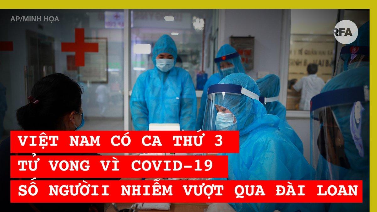 Bộ Y tế #Vietnam sáng 1-8-2020 xác nhận, nước này vừa có thêm người thứ 3 tử vong vì COVID-19 và có thêm 12 trường hợp dương tính ở Quảng Nam và Đà Nẵng.  Số ca công bố trong 2 ngày qua đã đưa con số người mắc virus corona vượt qua đảo Đài Loan. https://t.co/4sg2PY9aPJ