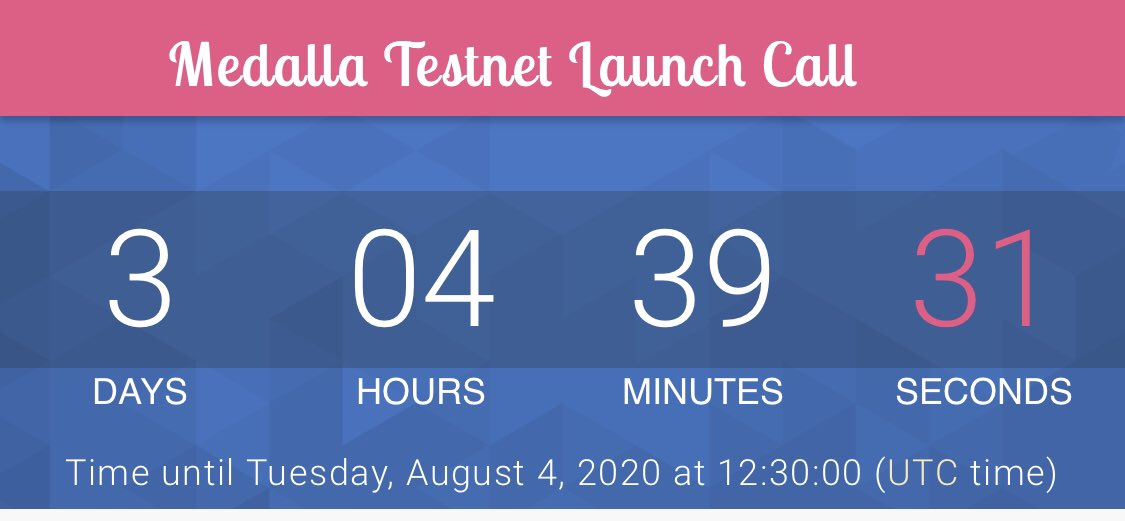 3 days left until the #eth2 #testnet #launch for Medalla!!! pic.twitter.com/kqb3RgYm4g