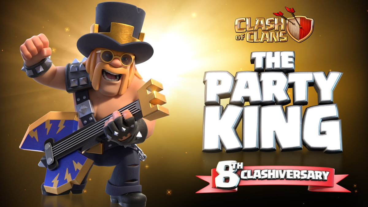 #ClashofClans Skin #Giveaway! 🎁 3x Party King Skins 🎁 💰U$5 through PayPal💰  To enter: ✔ Follow ✔ Retweet  Bonus (optional): ✔ Follow @HouseofBrawlers ✔ Subscribe to the new House of Clashers YT Channel: https://t.co/IbRHvpY9qA  ❗️Results in 2 days ⚠️ PayPal ONLY https://t.co/lN7pQfI72A