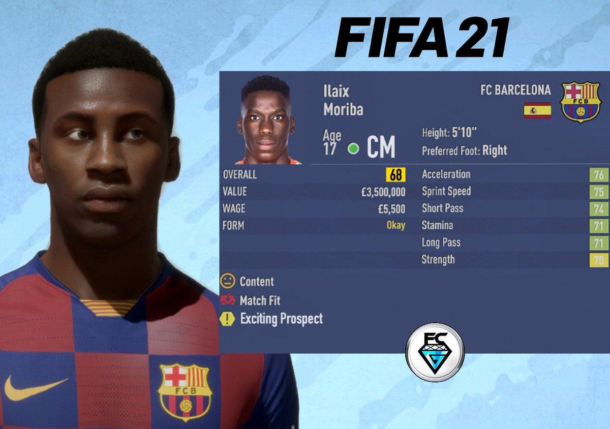 Fifa Career Gems On Twitter Fifa21 Wonder Kid Ilaix Moriba 17 Barcelona Barcelona B Cm Predicted Ovr 68 Predicted Pot 87