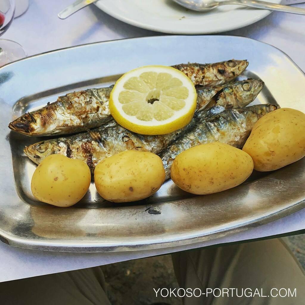 test ツイッターメディア - ポルトガルの夏の定番、イワシの炭火焼き。付け合わせは茹でたジャガイモと超シンプルな1品。 #ポルトガル料理 https://t.co/XwEp9rpF51