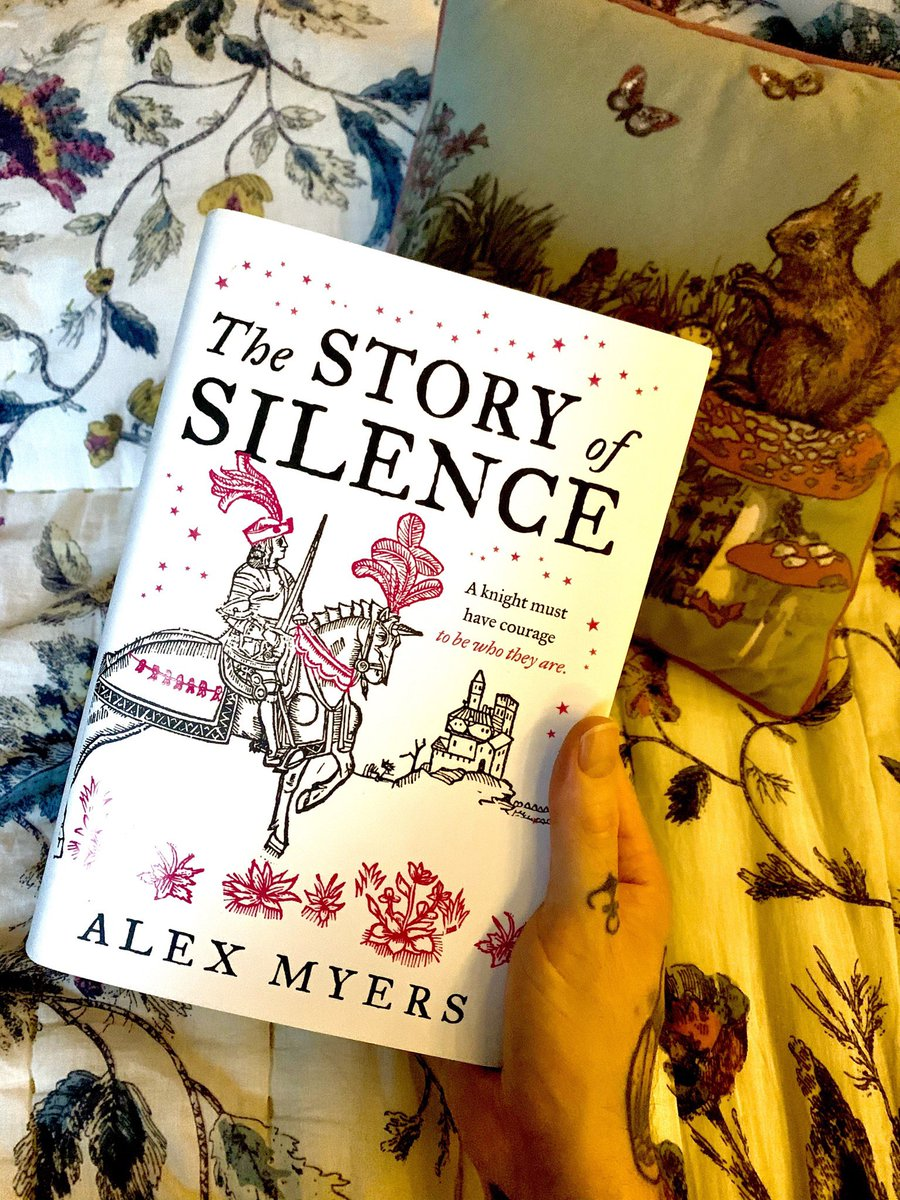 💜 How I plan on spending my day 💜 #TheStoryOfSilence by @MyersWriting 💜I started last night and it's just beautiful! Gorgeous setting, and brilliant writing! Thank you again to the wonderful team at @HarperVoyagerUK for #gifting me such a stunning book!💜