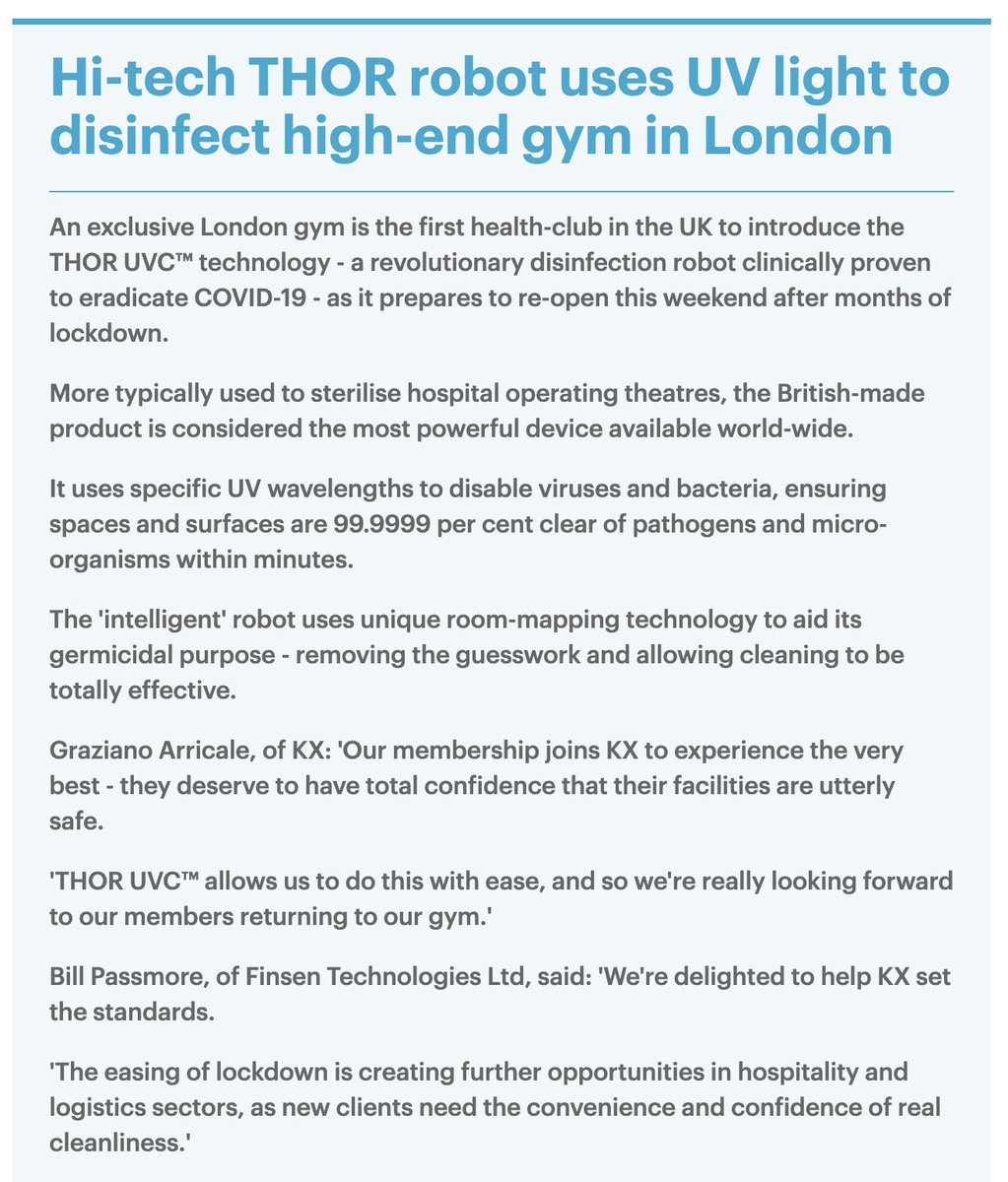 Introducing THOR UVC® to gyms, hotels, restaurants and much more ensures that your environment receives a thorough and standardised clean proven to eliminate COVID-19. (Click to see full photo) #disinfection #uvcrobot #COVID #uvc #infectioncontrol
