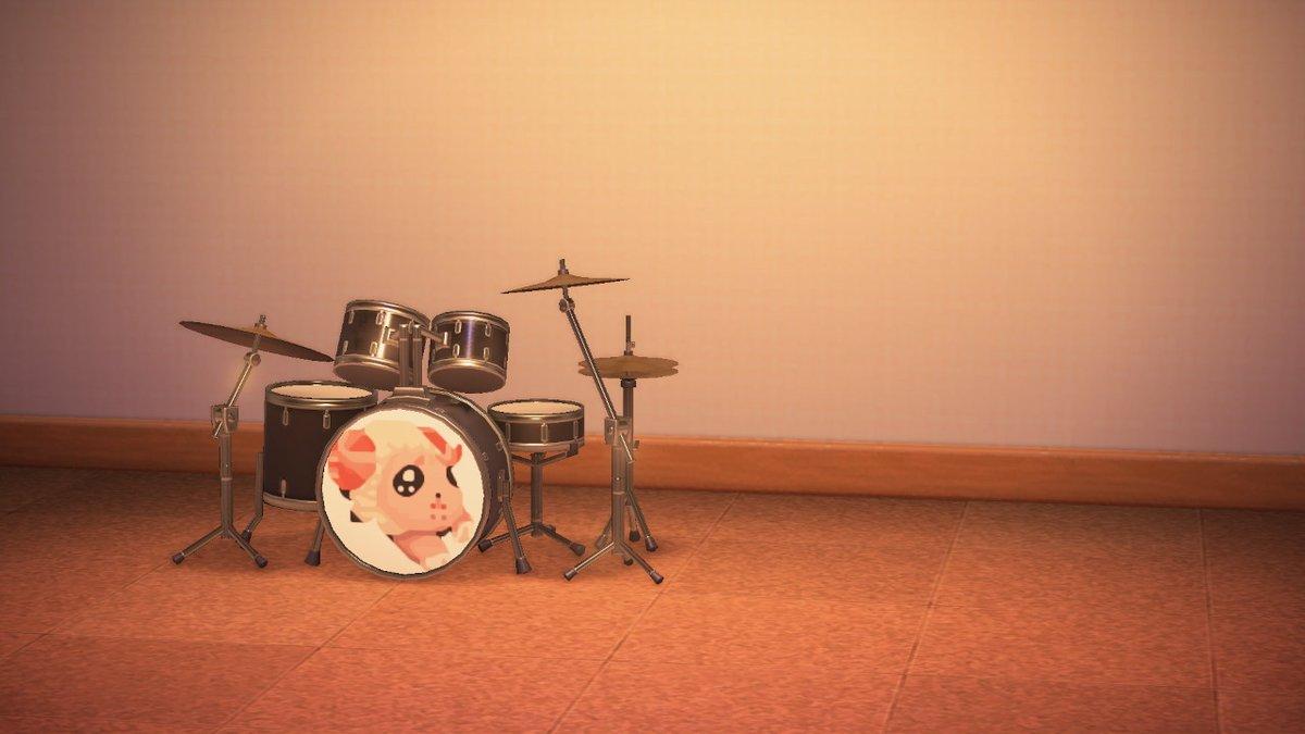 ドラムに突っ込んで抜けなくなったちゃちゃまる #どうぶつの森 #AnimalCrossing #ACNH #NintendoSwitch #ちゃちゃまる #マイデザイン