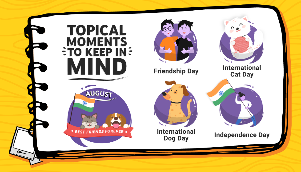 Awesome August is upon us! Here are some great topical days for you to make content around!