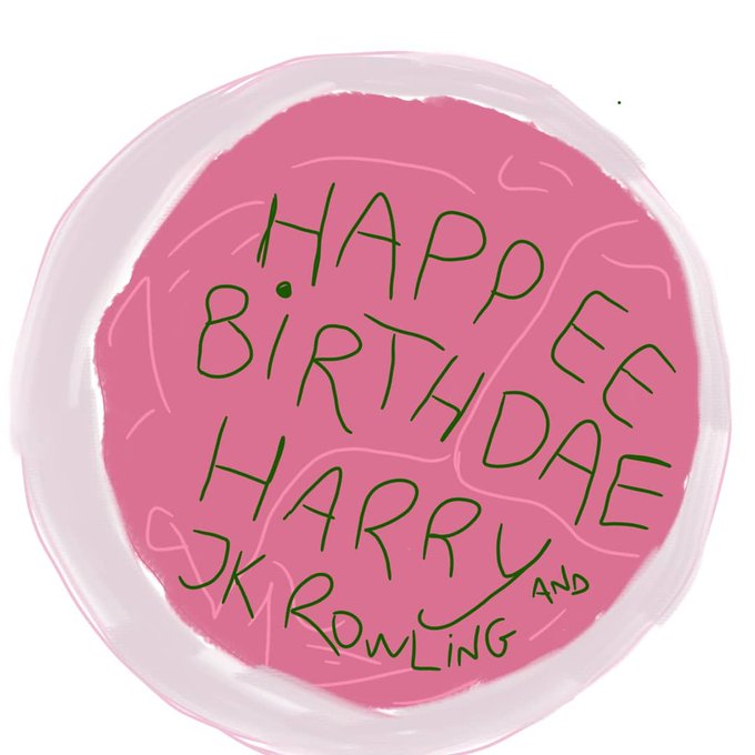 Happy BIRTHDAY to JK Rowling and Harry Potter