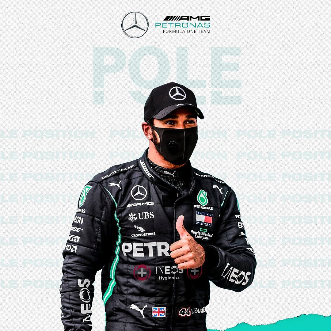 POLE AT HOME!!!! 🙌 @LewisHamilton starts from the front for the seventh time at the #BritishGP!! 🔥🔥 @MercedesAMGF1 https://t.co/F0zJ9MutZO
