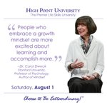[CALENDAR] #DailyMotivation from Dr. Carol Dweck. #HPU365