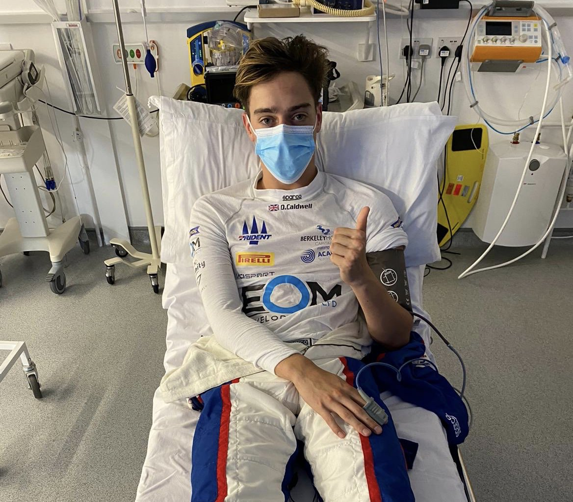 Hey guys, big accident but all okay! Shame about the result but big thanks to the medical team for looking after me💪🏽 https://t.co/XLa2E7kH3V