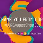 Image for the Tweet beginning: Take part in the #COREAugustShoutOut