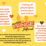 Image for the Tweet beginning: The 2020 Hartford Fringe Festival