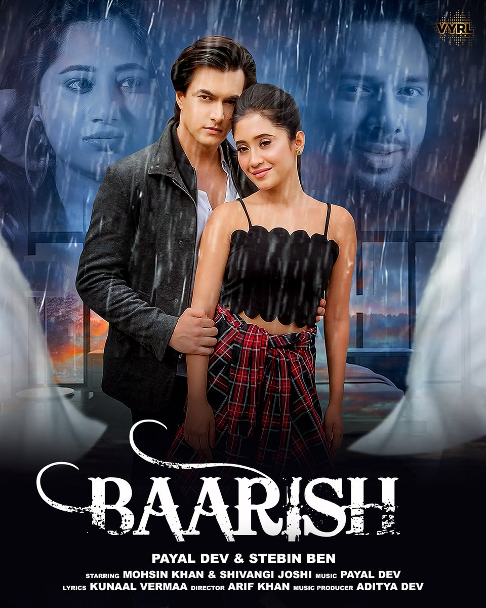 Here's a special surprise for you all this monsoon. #Baarish coming soon! ❤️  @iPayalDev @Stebin_Ben @adityadevmusic @kunaalvermaa77 @momo_mohsin @shivangijoshi10 @nahkfira https://t.co/uZN2DBlBfw