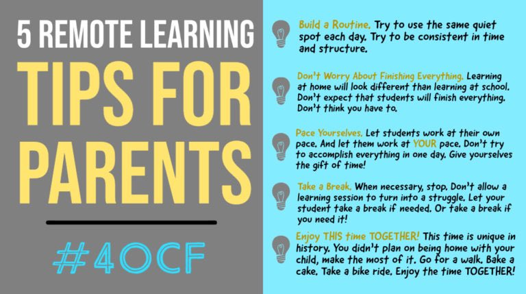 Remote Learning Tips for Parents #4OCF #satchat