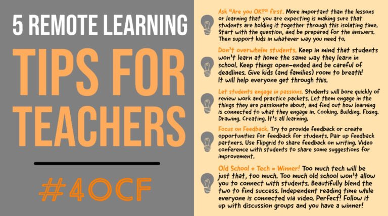 Remote Learning Tips for Teachers #4OCF #satchat