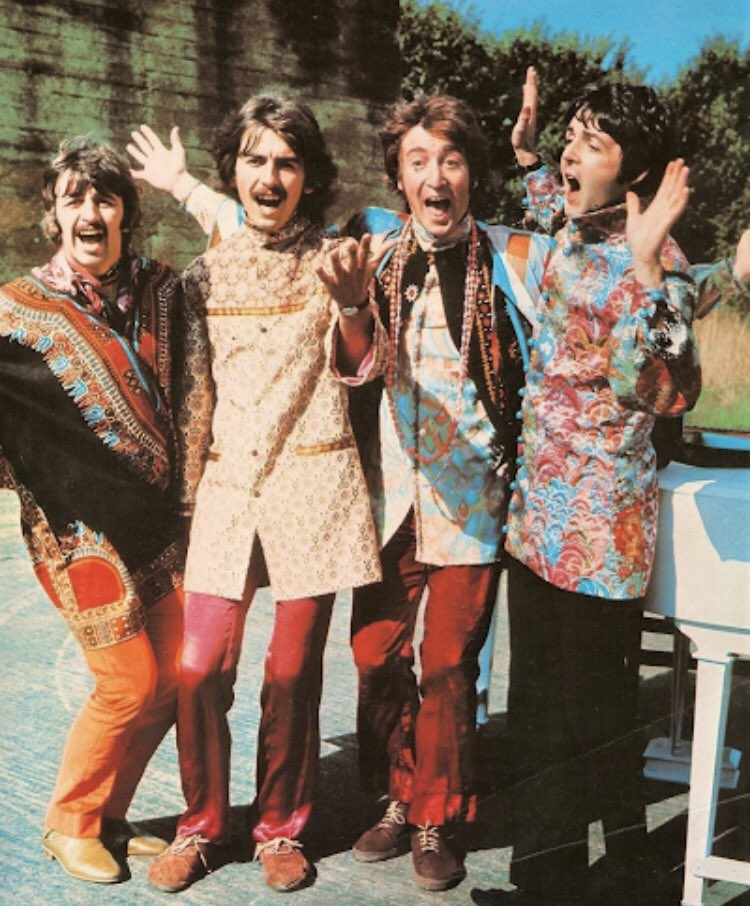 The Beatles Filming The Music video for I Am The Walrus - 1967