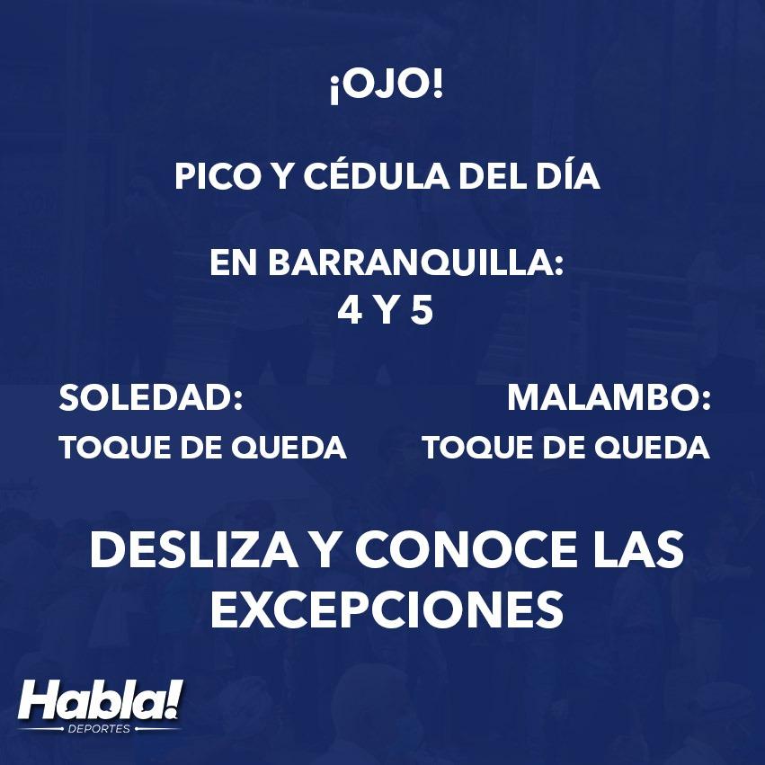 #Coronavirus ¡Mucho cuidado! Conoce cuál es el pico y cédula que rige el día de hoy en Barranquilla y el Atlántico en general: https://t.co/VEHprNQdBQ  #QuedateEnCasa #LavateLasManos https://t.co/iqscB9OQRH