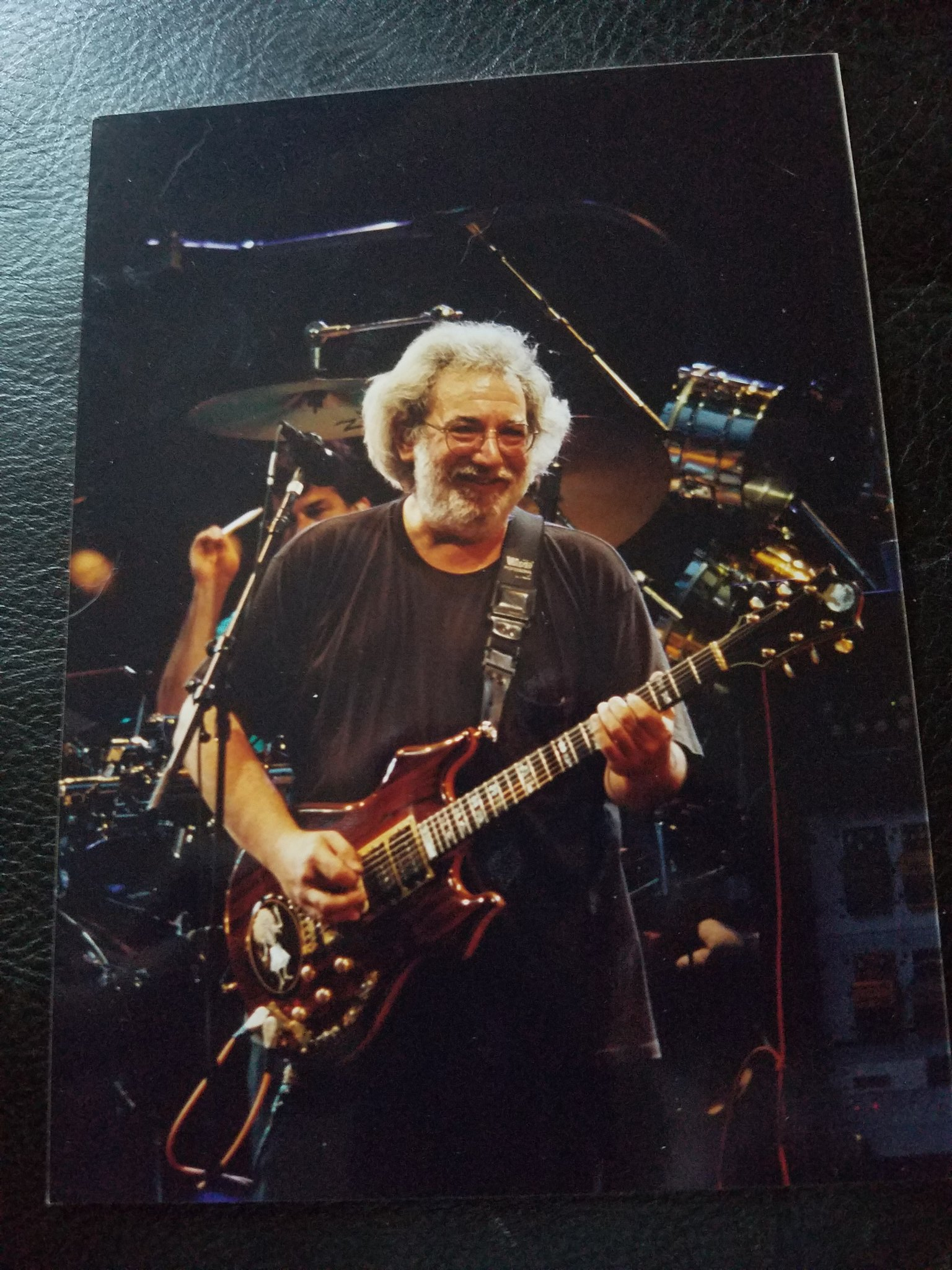 Happy birthday Jerry Garcia! One of the few pictures I took of Jerry Garcia. He turned to me and smiled!