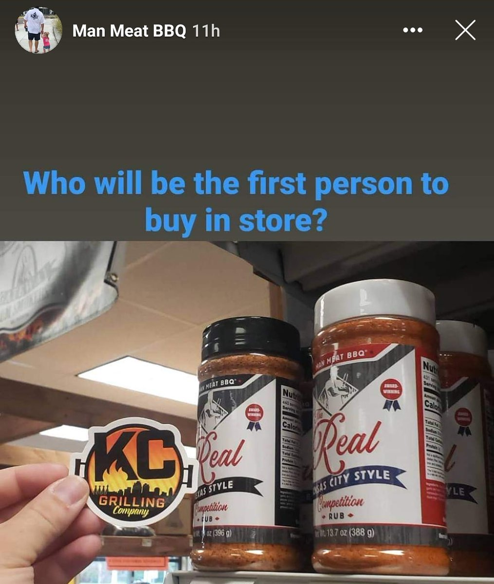 """Its on today at @kcgrillingco. The """"Rub Release"""" Party for @Therealmanmeat1 new rubs!  Come out & try some BBQ samples & pick up these new rubs from the current @KCBBQSOCIETY No. 1 team in the world!pic.twitter.com/LhZhOMffAA"""