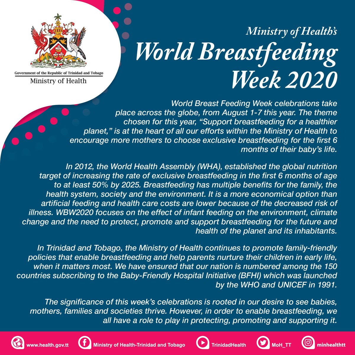 Ministry Of Health On Twitter Trinidad And Tobago Stands With