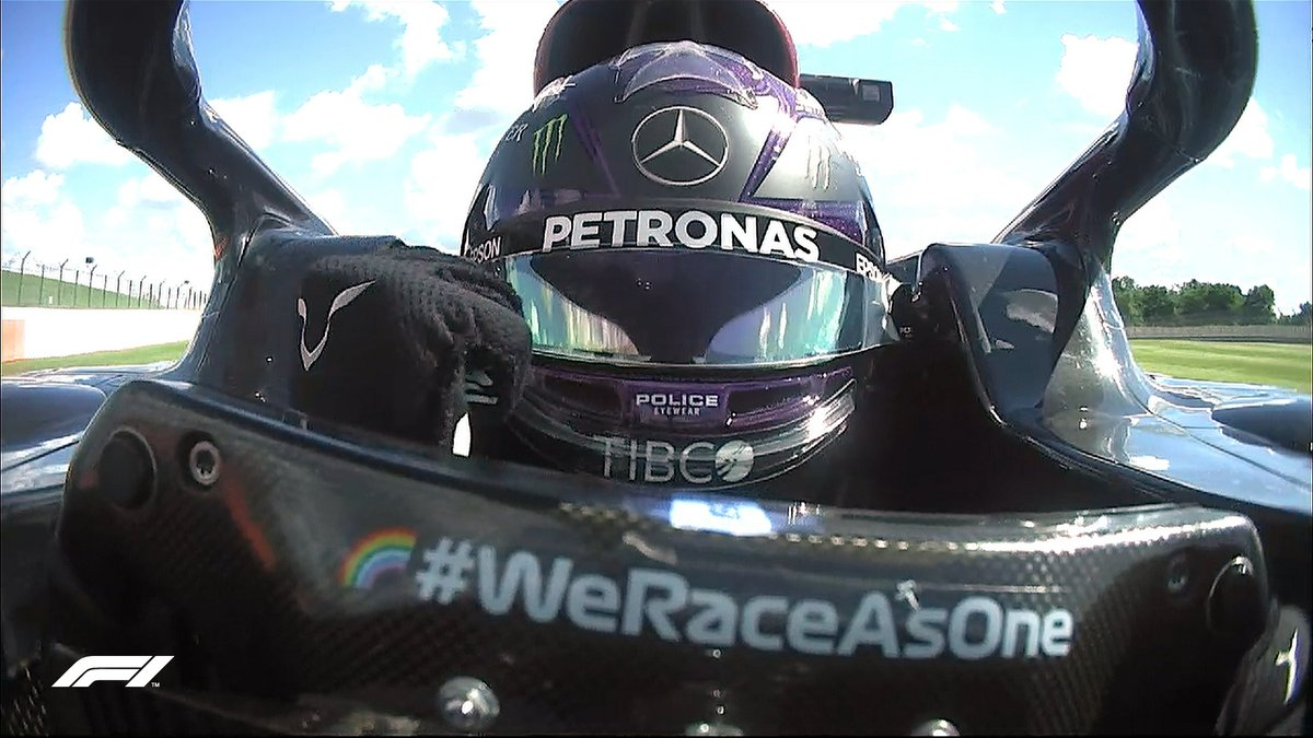 🏁 END OF QUALIFYING 🏁  TOP 10 Hamilton Bottas Verstappen Leclerc Norris  Stroll Sainz Ocon Ricciardo Vettel  #BritishGP 🇬🇧 #F1 https://t.co/AQbCKPzsQ8