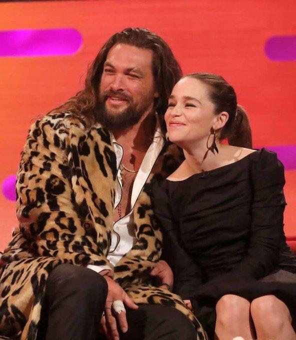 Happy Birthday to Jason Momoa, one of the best buddies of Emilia Clarke!