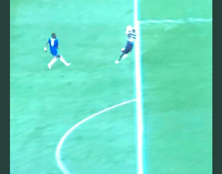 """Vialli's Chelsea FC's tweet - """"It is 100% clear @FA that the ball ..."""