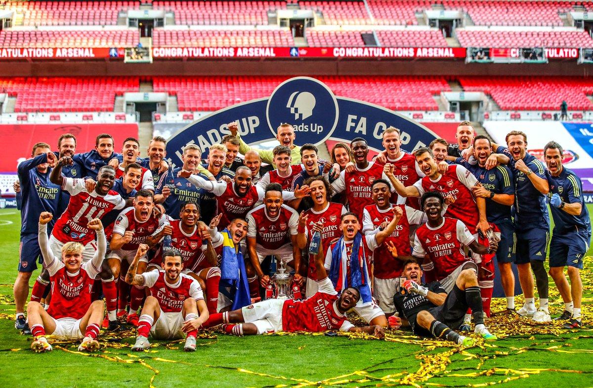 YEEEEESSS!!! 💥💥 The FA Cup is OURS! 💪🏻💪🏻 #GibGäs #SeoKol @Arsenal @EmiratesFACup