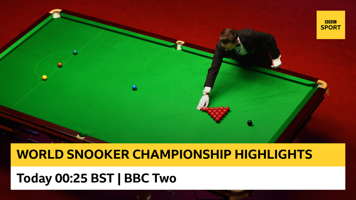 Highlights from the World Snooker Championship are starting on @BBCTwo and @BBCiPlayer right now. Tune in! ⚪🔴⚫ #bbcsnooker