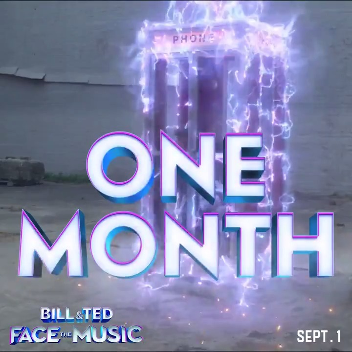 In one month, excellence arrives! See Bill & Ted Face the Music in theaters and On Demand 9/1. #FaceTheMusic #BillAndTed3 pic.twitter.com/MQFd7YZkCf