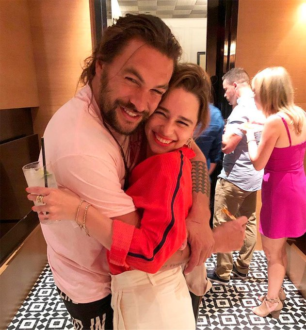 Happy birthday to Jason Momoa, who turns 41 today, one of the best friends of Emilia