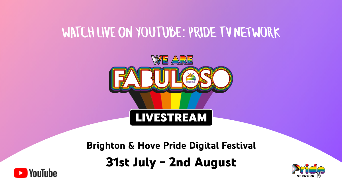 This weekend, @PrideBrighton brings their legendary Pride festival to YouTube 🏳️‍🌈   Tune in for 3 days of celebrations, incl a community parade and sets from @nilerodgers, @yearsandyears, @MNEK + more → https://t.co/PII1mcUHtv https://t.co/VyKtCnOdYP