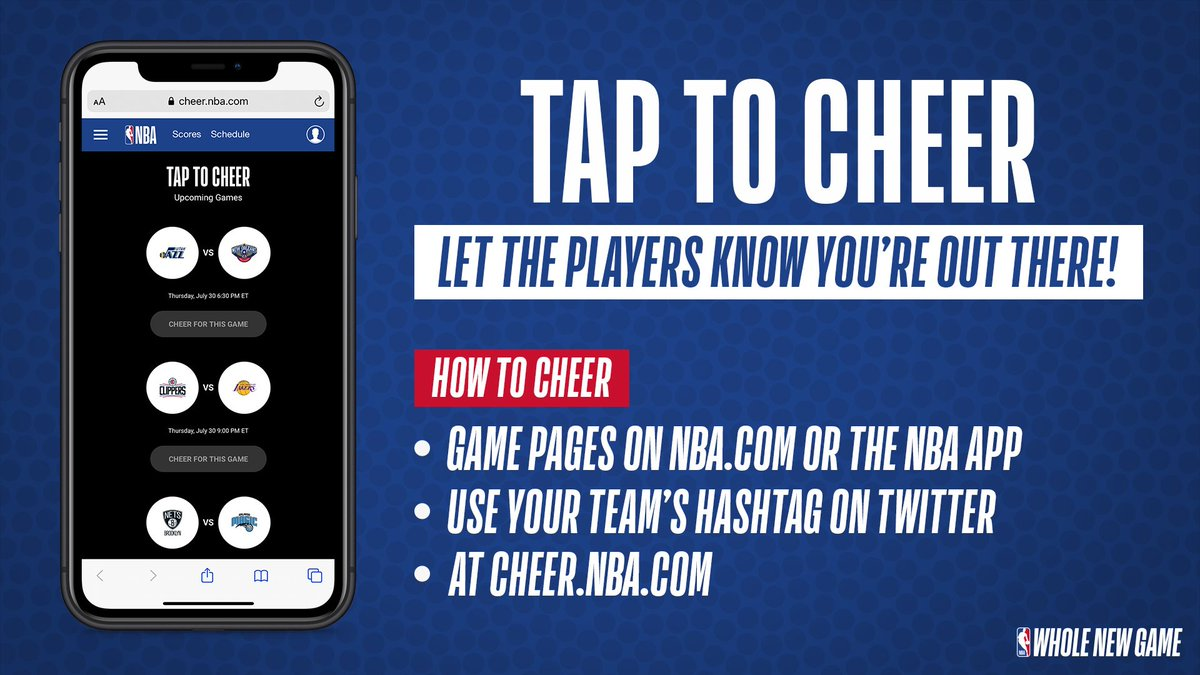 Make some noise @MiamiHEAT and @nuggets fans! #WholeNewGame  Tap to Cheer starting at GAMETIME at 1:00 PM ET on ESPN. #HEATTwitter #MileHighBasketball https://t.co/XP78nyusgm
