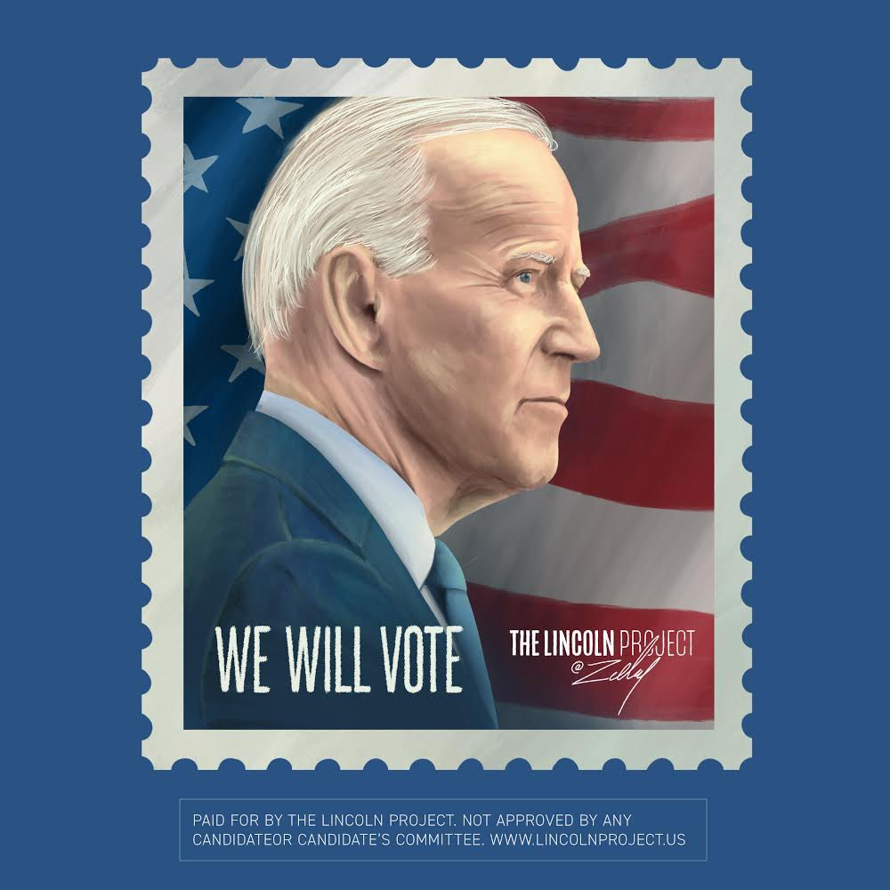 #WeWillVote early. We will vote by mail. WE. WILL. VOTE. artist: @zelley