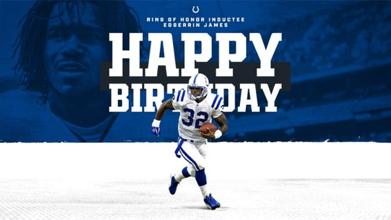 Happy Birthday to the best RB in Colts history: Edgerrin James
