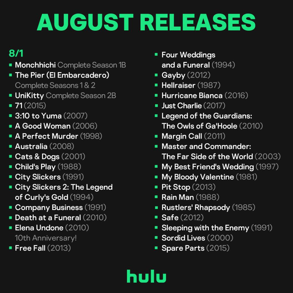 🚨 August is here and so are new titles for you watch 🚨